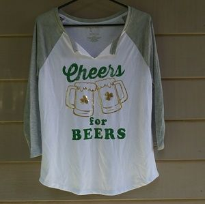 Cheers for Beers T Shirt Large